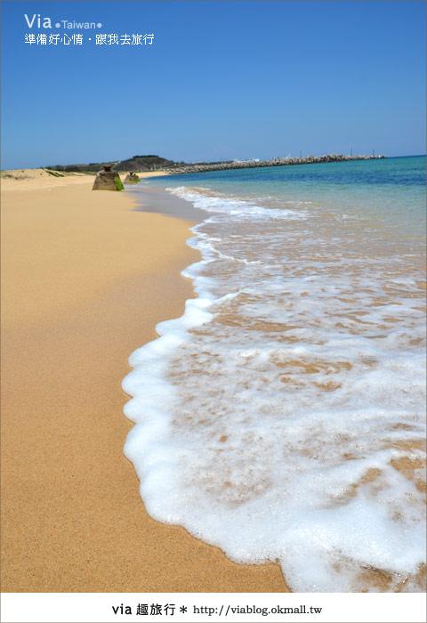 【澎湖沙灘】山水沙灘,遇到菊島的夢幻海灘!26
