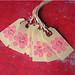 pink carved flower tag