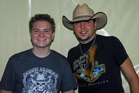 Jason Aldean and Jacob Nelson