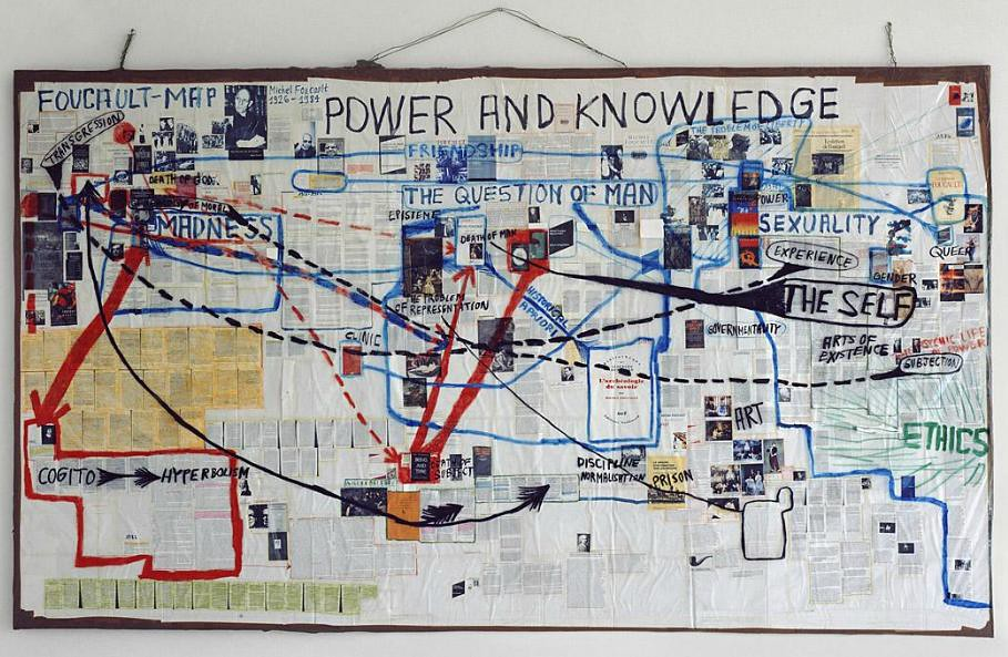 foucault-map by thomas hirschhorn