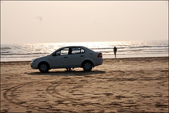 "Ford Car (""Shankar M"") Tags: sea beach car mumbai seashore alibag fordcar akshibeach"