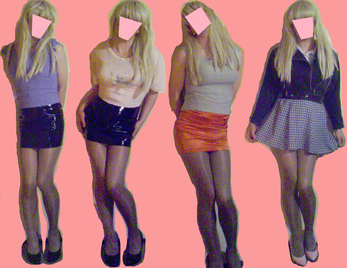 teens mini skirt. 4 hot teens in mini skirts