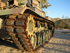 Tank Tread (Rennett Stowe) Tags: rust war tank worldwarii camouflage armor rusting tread tanks secondworldwar treads battletank pattonmuseum americantank desertcamouflage generalpattonmuseum tanktreads americanbattletank secondworldwartank secondworldwartanks worldwariitank worldwariitanks tankcamouflage worldwariidesertcamouflage americandesertcamouflage