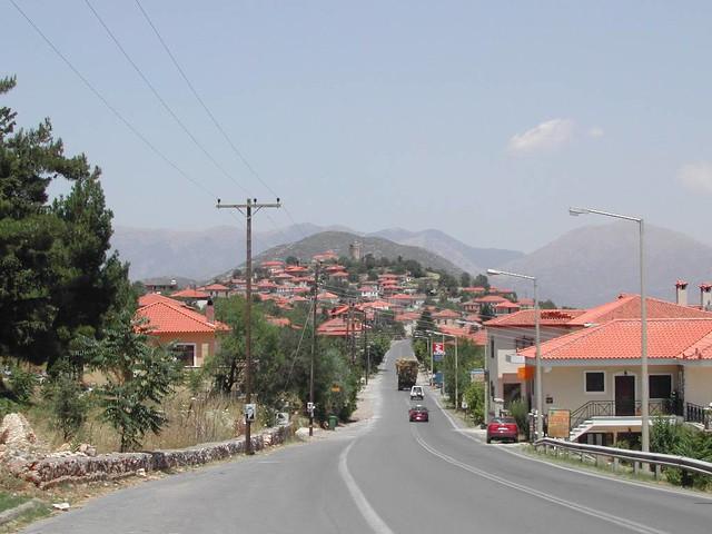 Πελοπόννησος - Αρκαδία - Δήμος Λεβιδίου Λεβίδι, είσοδος στο χωριό