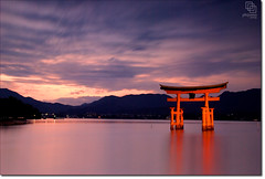 Low Light, High Tides (Phijomo) Tags: sunset sky japan outdoors lowlight nikon dusk scenic hiroshima miyajimaisland miyajima  shinto torii   itsukushima   honshu lateday d80 itsukushimajinga  mywinners nikond80 karmapotd infinestyle platinumheartaward theperfectphotographer flickrclassique