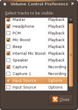 Screenshot-Volume Control Preferences