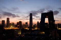 CBD Dusk (China Chas) Tags: china architecture beijing engineering cctv fv5 fv10 cbd oma 2009 1022mm arup