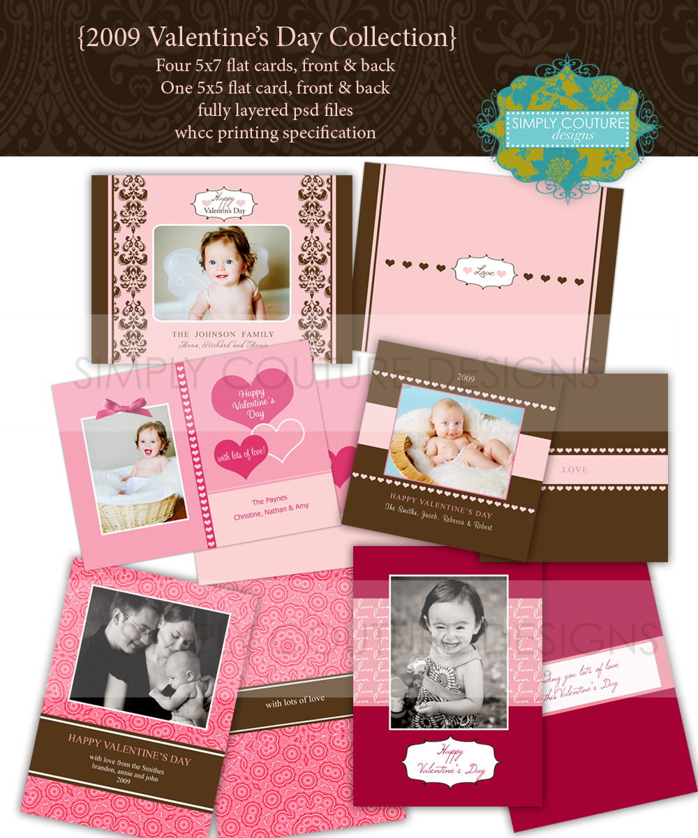 2009 Valentine Day Card Templates Collection