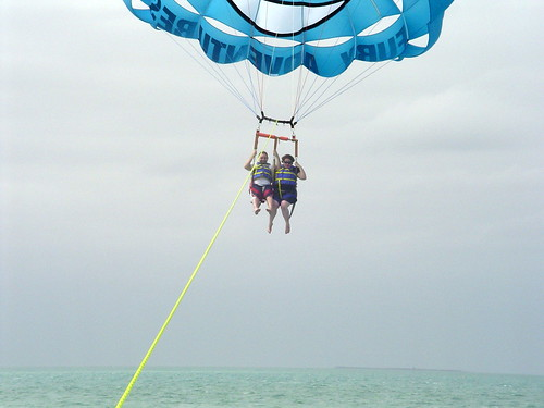 Bill and I parasailing.