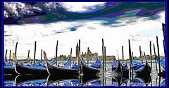 le gondole... (FIORASO GIAMPIETRO ITALY....) Tags: travel venice italy europe laguna venezia viaggio vacanza veneto fioraso giampietro fiorasogiampietro