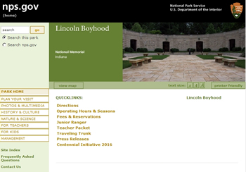 National Park Service Lincolns Boyhood cp sm