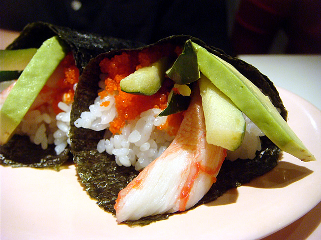 Crab and Avocado Handroll