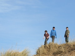 The Boys (moymackay) Tags: birthday winter snow beach boys jumping sand fife dunes east saul gullane lothian sledging eirinn hendos williamhope
