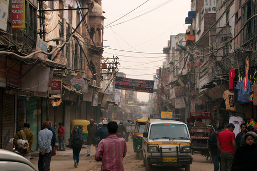 The Main Bazaar in Paharganj one early morning before it got crowded..