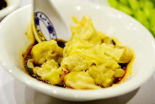 Sichuan won ton with red chili oil