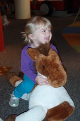 happy girl on her horsey