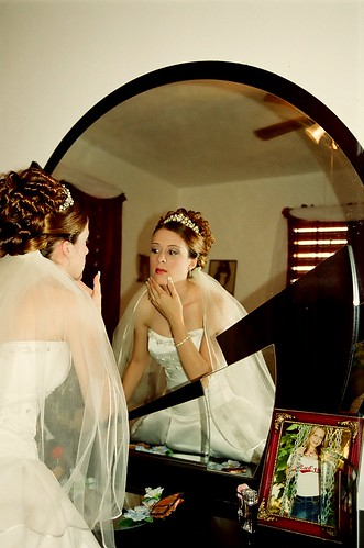 This is another lovely photo of teh bride with this curly updo (back view