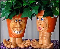 The Real Mr & Mrs. Creepy Moe (Sue90ca Much Too Busy!!) Tags: planters creepy moe digitalcameraclub 15challengeswinner canons5is