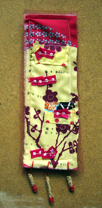 Pink Fabric Bookmark {swap}