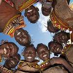 Turkana tribe girls, Kenya