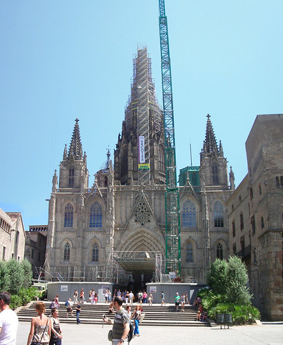 Facade of the Cathedral of Barcelona