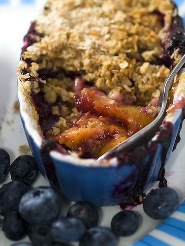 Peach &  Blueberry Oatmeal Crisp