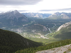Banff from Sulphur Mountain (Redbeard Math Pirate) Tags: mountain canada mountains nationalpark banff sulphurmountain banffnationalpark banffgondola sulphurmountaingondola