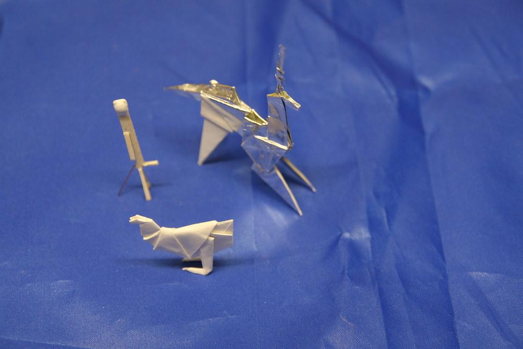 Origami Figures Joanfuste Tags Chicken Bladerunner Stickman Unicorn Props Gaff Atrezzo