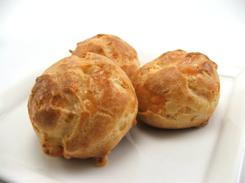 Cheddar and Gruyère Gougeres