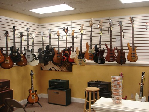 The pretty guitars at the Music Boutique
