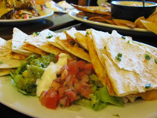 Quesadillas at Agave Mexican Cantina