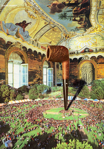 LARRY CARLSON, PIPE DAY, collage on paper, 10x8in., 2003.