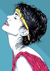 Olivia Newton-John Neon Beat Art (Mel Marcelo) Tags: portrait face illustration hair vectorart 80s eighties posterart headband grafx adobeillustrator olivianewtonjohn djjunior spotcolors neonbeat djatari melmarcelo meltendo mpyregraphics melitomarcelo