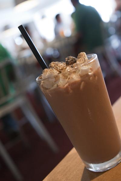 Nutella and Toasted Marshmallow Milkshake