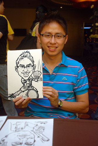 Caricature live sketching for Standard Chartered Bank - 5