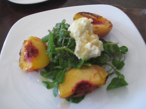 Greens - San Francisco - Grilled Nectarines with Fromage Blanc, Watercress and Snyders Sage Honey