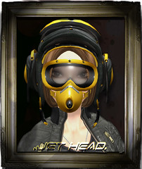 Jet-Head (Yellow) (Hat Mechanic) Tags: helmet pilot jetgirl hatmechanic fadedana