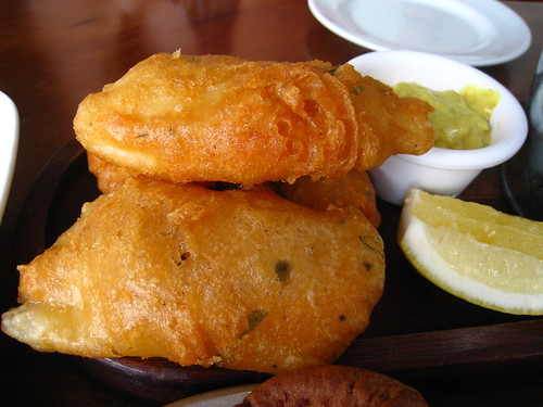 Beer Battered Fish @ Queen & Mangosteen