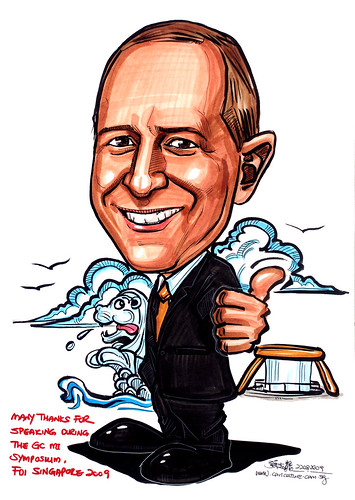 Caricature for GC Asia Dental - 2