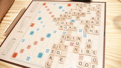 Our one-sided Scrabble game