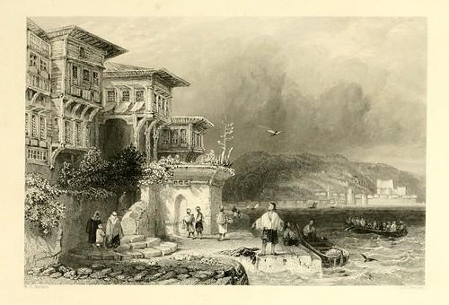 012- Casas de campo turcas en el Bosforo-Las bellezas del Bosforo 1838-W.H. Bartlett