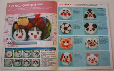 Onigiri rice ball variations (Kawaii Bento Boxes)