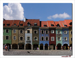 Postcards from Poland (Pozna) (Menacho) Tags: plaza houses square poland colores colored casas polonia pozna colorphotoaward