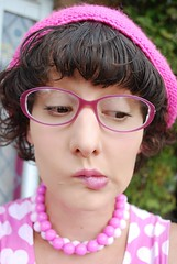 Self Portrait Thursday....17-9-09 (kittypinkstars) Tags: pink girl out for am looking little kitty caterpillars scared pesky pinkness i kittypinkstars blighters