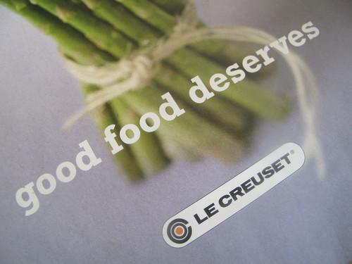 Good food deserves