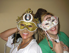 christine and me with our masks