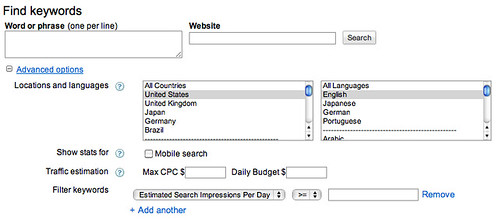 New AdWords Keyword Tool