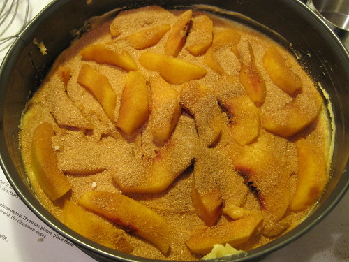 Late Summer Peach Torte Uncooked
