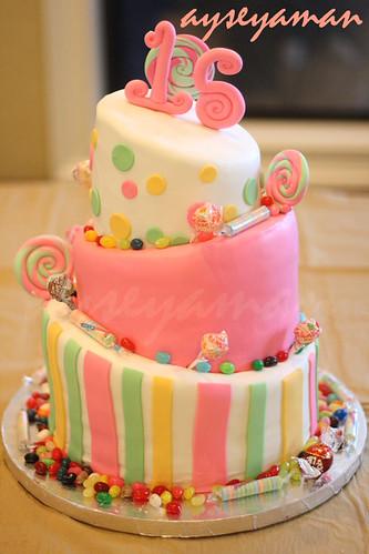 Topsy Turvy Candy Cake (Alt üst Lolipop Pasta)