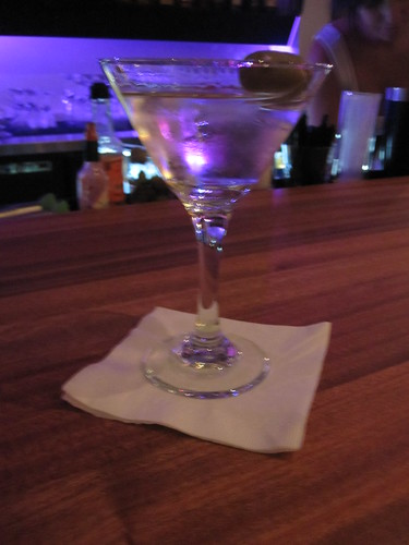 Martini at the bar at Macaroni